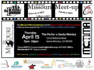5th Annual Missouri Meet Up in Santa Monica April 14th