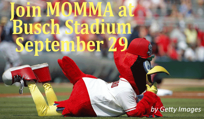 Join MOMMA at a Cardinal's Game in September